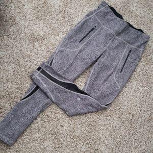 Lululemon black speckled mesh legging